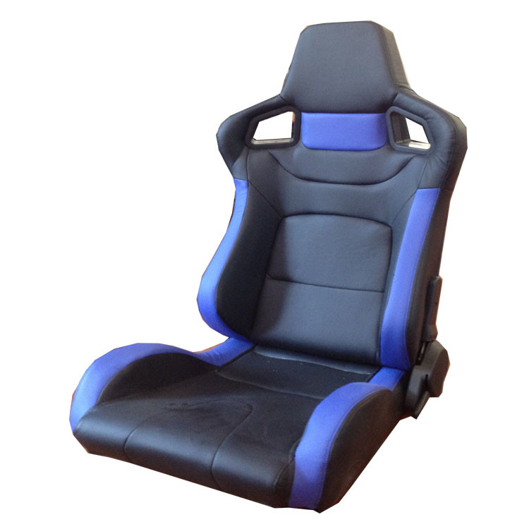 PVC Adjustable Blue And Black Racing Seats / Sports Car Seat with single slider