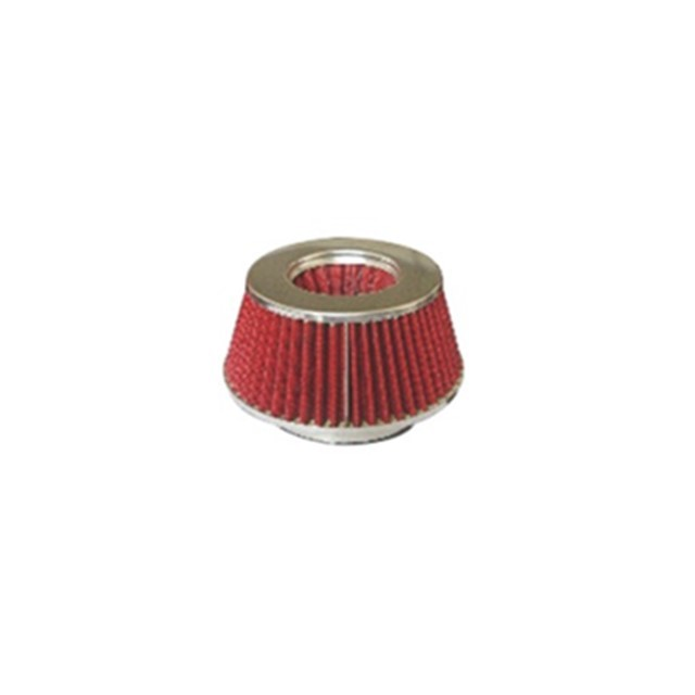 Red High Pressure Racing Air Filter 70mm Height With 1 Year Warranty